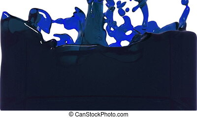 turbulent blue liquid filling the frame. tinted oil -...