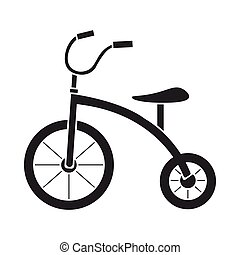 Tricycle icon in black style isolated on white background. Play garden symbol stock vector illustration.
