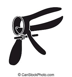 Speculum icon in black style isolated on white background....