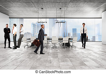 Executive office corporate - Businessmen in the luxury...