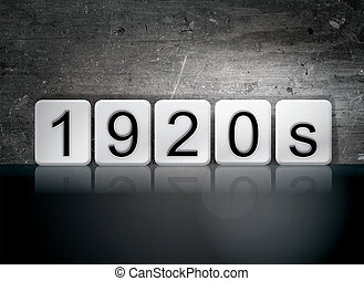 """1920s Tiled Letters Concept and Theme - The word """"1920s""""..."""