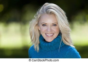 Portrait Of A Mature Woman Smiling - Mature Women, Women,...