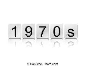 1970s Isolated Tiled Letters Concept and Theme - The word...