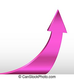 Arrow. Magenta Color - Arrow. Magenta color sign and white...