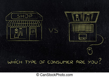 online shops vs physical store: buying the same items -...