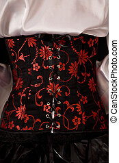 Close-up of fashionable corset