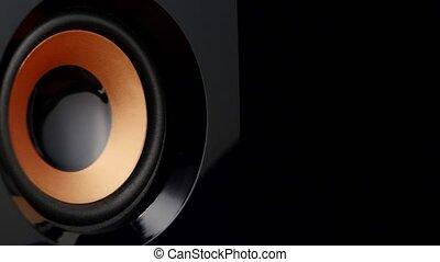 Speaker pumping. Closeup - Speaker pumping, speaker system,...