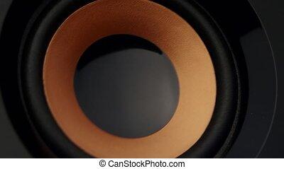 Loud speaker. Closeup - Loud speaker, speaker membrane...