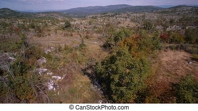 Aerial, Farmland, Trees And Bushes, Montenegro - Graded and...