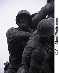 Iwo Jima Soldier - The face of a Iwo Jima Soldier at...