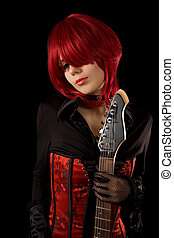 Sensual girl with guitar - Sensual girl with guitar,...