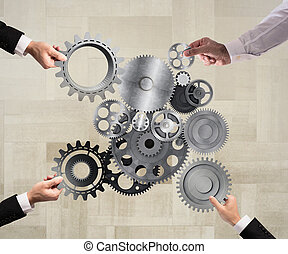 Teamwork and integration concept - Teamwork of...