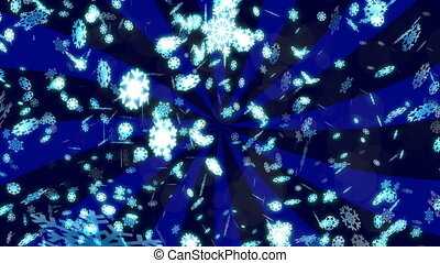 HD Loopable Background with nice falling snowflakes - HD...