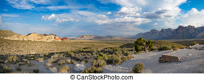 Red Rock Canyon Near Las Vegas, NV - A Panorama of Red Rock...