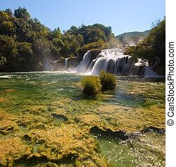 Krka National Park waterfalls in Croatia - Krka National...
