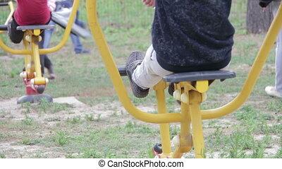 Children's Fitness Equipment on the Street