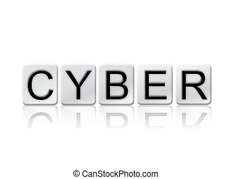 Cyber Isolated Tiled Letters Concept and Theme - The word...