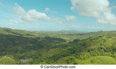 Philippines jungle and forest. Aerial views 1. - Filipina...