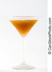Cocktail in martini glass isolated