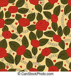 Roses retro seamless pattern