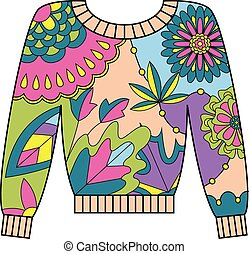 Pullover colorful - Vector pullover colorful