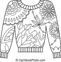 Pullover coloring - Vector pullover coloring