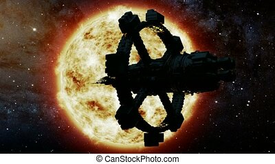 Space Ship and Sun Star