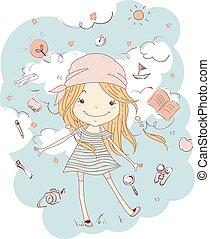 Kid Girl Wanderlust