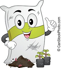Mascot Fertilizer Sack - Mascot Illustration of a Fertilizer...