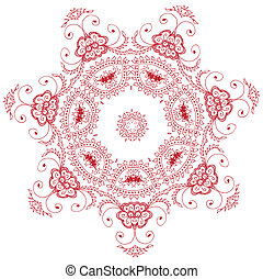 Oriental zentangle anti-stress therapy pattern, vector...