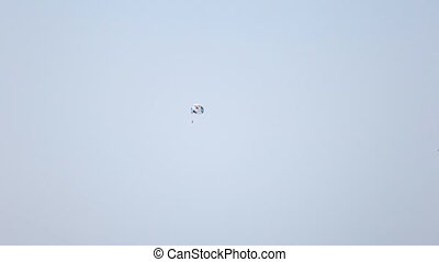 flying in the sky skydiver