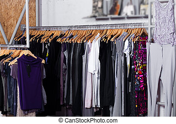 Fashion clothes for sale - Luxury fashion clothes in display...