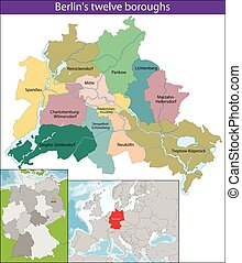 Map of Berlin - Berlin is the capital and the largest city...