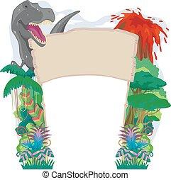 Dino Pre Historic Welcome Arch