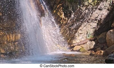 Waterfall Jur-Jur, Crimea, Ukraine - Waterfall Jur-Jur,...