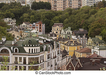 Houses in the Andrew's Descent in Kyiv