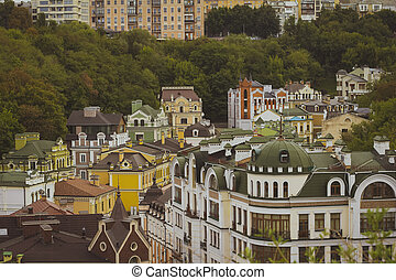 Roofs of houses in the Andrew's Descent in Kiev