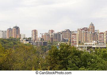 New residential buildings in Kiev