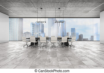 Executive office. 3D Rendering - Luxury executive office...