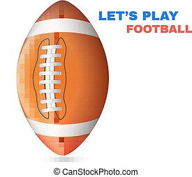American Football isolated on White Background Vector...