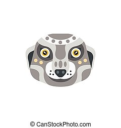 Meerkat African Animals Stylized Geometric Head. Flat...
