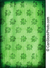 Grunge background with clover - Grunge background with...