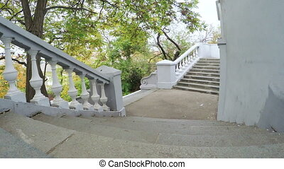White stone staircase