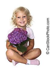 smiling little blond girl