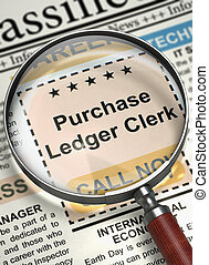 Job Opening Purchase Ledger Clerk. 3D. - Purchase Ledger...