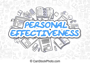 Personal Effectiveness - Doodle Blue Word. Business Concept....