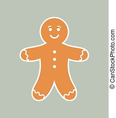 Cute gingerbread man. Vector illustration