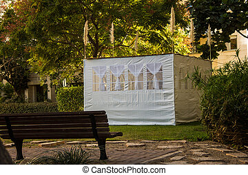 Jewish Holiday Sukkot . A sukkah is a temporary hut...