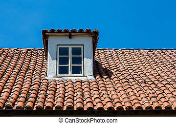 Dormer on Red Tile Roof