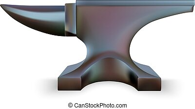 Iron Anvil isolated on white background. Vector